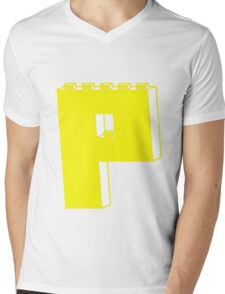 THE LETTER P, by Customize My Minifig Mens V-Neck T-Shirt