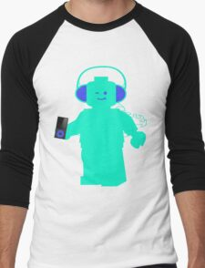 Minifig with Headphones & iPod Men's Baseball ¾ T-Shirt