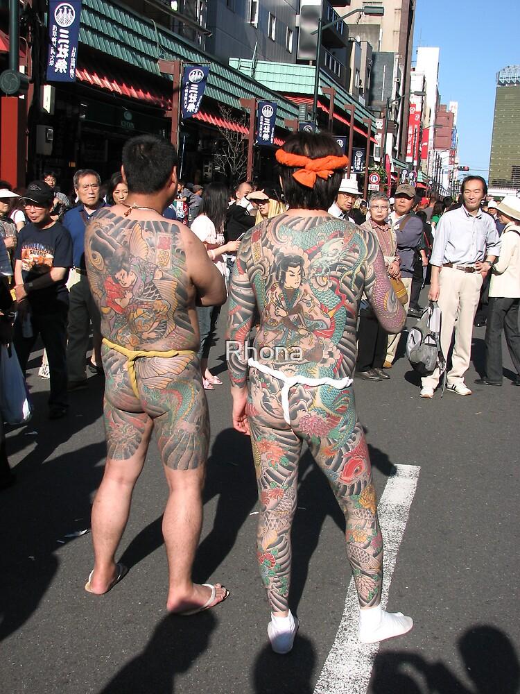 Yakuza tattoos by Rhona