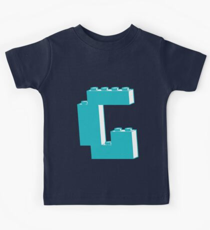 THE LETTER G, by Customize My Minifig Kids Tee