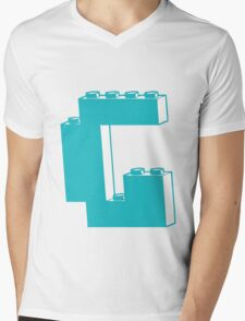 THE LETTER G, by Customize My Minifig Mens V-Neck T-Shirt