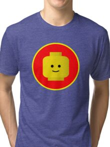 MINIFIG HAPPY FACE Tri-blend T-Shirt
