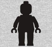 Minifig [Large Black] Kids Clothes