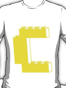 THE LETTER C, by Customize My Minifig T-Shirt