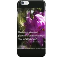 rhododendron with haiku iPhone Case/Skin