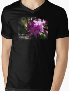 rhododendron with haiku Mens V-Neck T-Shirt