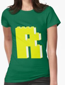 THE LETTER R, by Customize My Minifig Womens Fitted T-Shirt