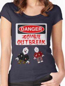 DANGER ZOMBIE OUTBREAK Women's Fitted Scoop T-Shirt