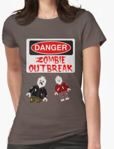 DANGER ZOMBIE OUTBREAK Womens Fitted T-Shirt