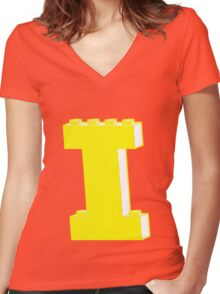 THE LETTER I, by Customize My Minifig Women's Fitted V-Neck T-Shirt