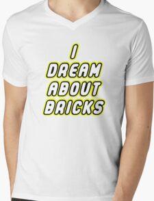 I DREAM ABOUT BRICKS Mens V-Neck T-Shirt
