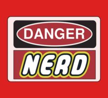 Danger Nerd Sign Kids Clothes