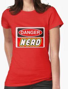 Danger Nerd Sign Womens Fitted T-Shirt