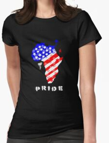 African American Pride Womens Fitted T-Shirt