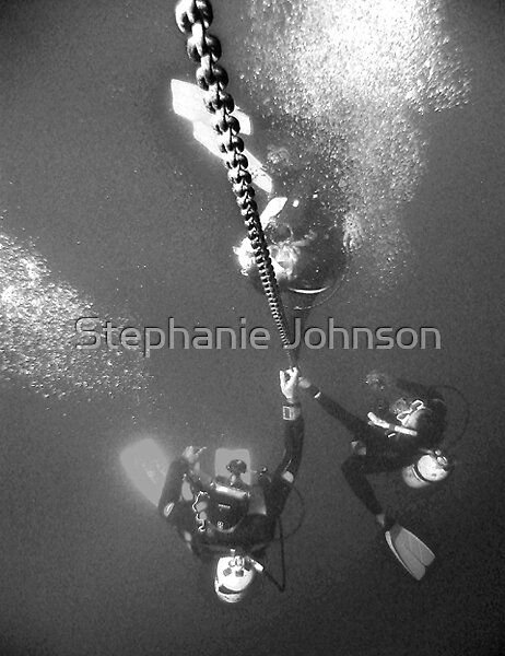 Ascending divers by Stephanie Johnson