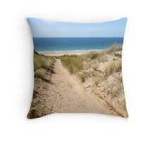 A path through the sand dunes to the beach. Throw Pillow