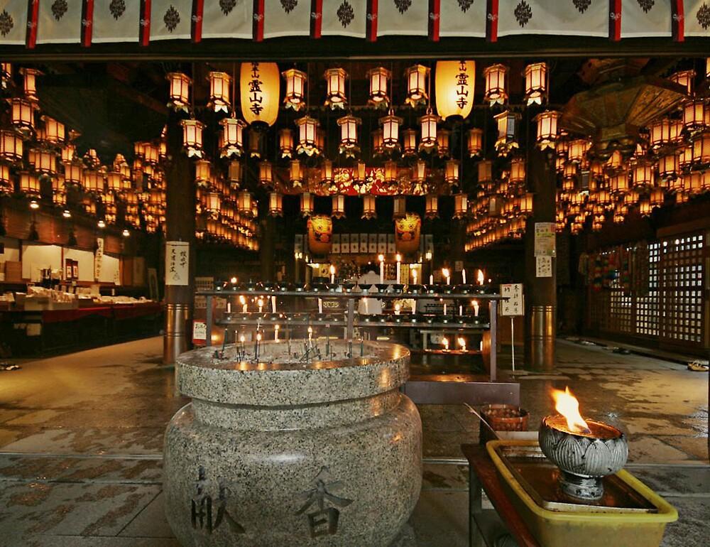 Internal temple at Ryōzenji - in Naruto Tokushima by Trishy