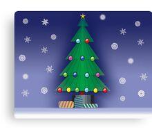 A Christmas scene Canvas Print