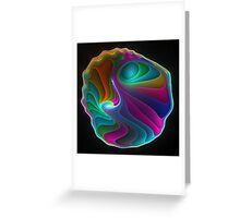 Colorful abalone shell  Greeting Card