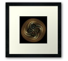 Copper button twist Framed Print
