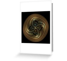 Copper button twist Greeting Card
