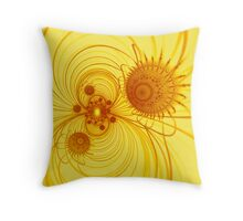 Fractal diatomes Throw Pillow