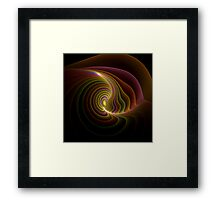 Mollusk shell with golden pearl Framed Print