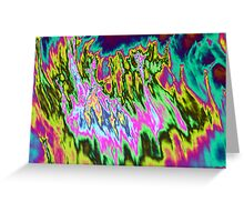 Psychedelic colors. Greeting Card
