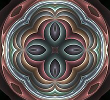 3d pastel fractal mandala by pelmof