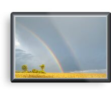 Rain and the Double Arc Metal Print