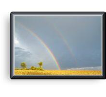 Rain and the Double Arc Canvas Print
