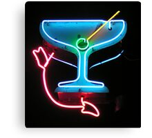 Martini in Neon Canvas Print