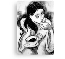 coffee thoughts  Canvas Print