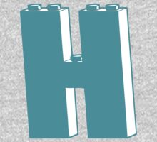 THE LETTER H, by Customize My Minifig Kids Clothes