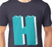 THE LETTER H, by Customize My Minifig Unisex T-Shirt