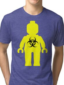Minifig with Radioactive Symbol Tri-blend T-Shirt