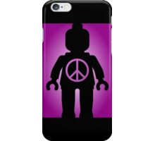 Black Minifig with Peace Symbol, by Customize My Minifig iPhone Case/Skin