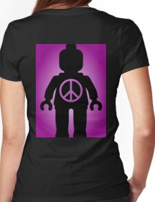 Black Minifig with Peace Symbol, by Customize My Minifig T-Shirt