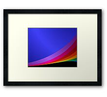 Shiny rainbow Framed Print