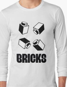 """BRICKS"", by Customize My Minifig Long Sleeve T-Shirt"