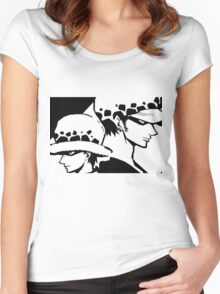 Trafalgar Law Past and Future Women's Fitted Scoop T-Shirt