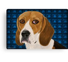 Beagle Staring Directly at You - Digital Paint Canvas Print