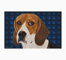 Beagle Staring Directly at You - Digital Paint Kids Clothes