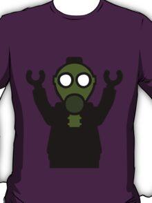 Apocalyse Minifigure wearing Gasmask T-Shirt