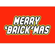 MERRY 'BRICK'MAS Photographic Print