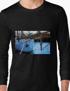 Old vintage wooden sail boat  Long Sleeve T-Shirt