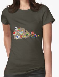 Mario Kart Item fury  Womens Fitted T-Shirt