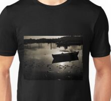 Reflection of a small dinghy dory boat Unisex T-Shirt