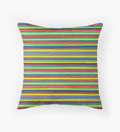 Color elastic bands Throw Pillow