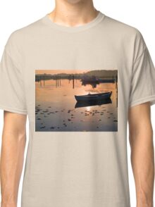 Reflection of a small dinghy dory boat Classic T-Shirt